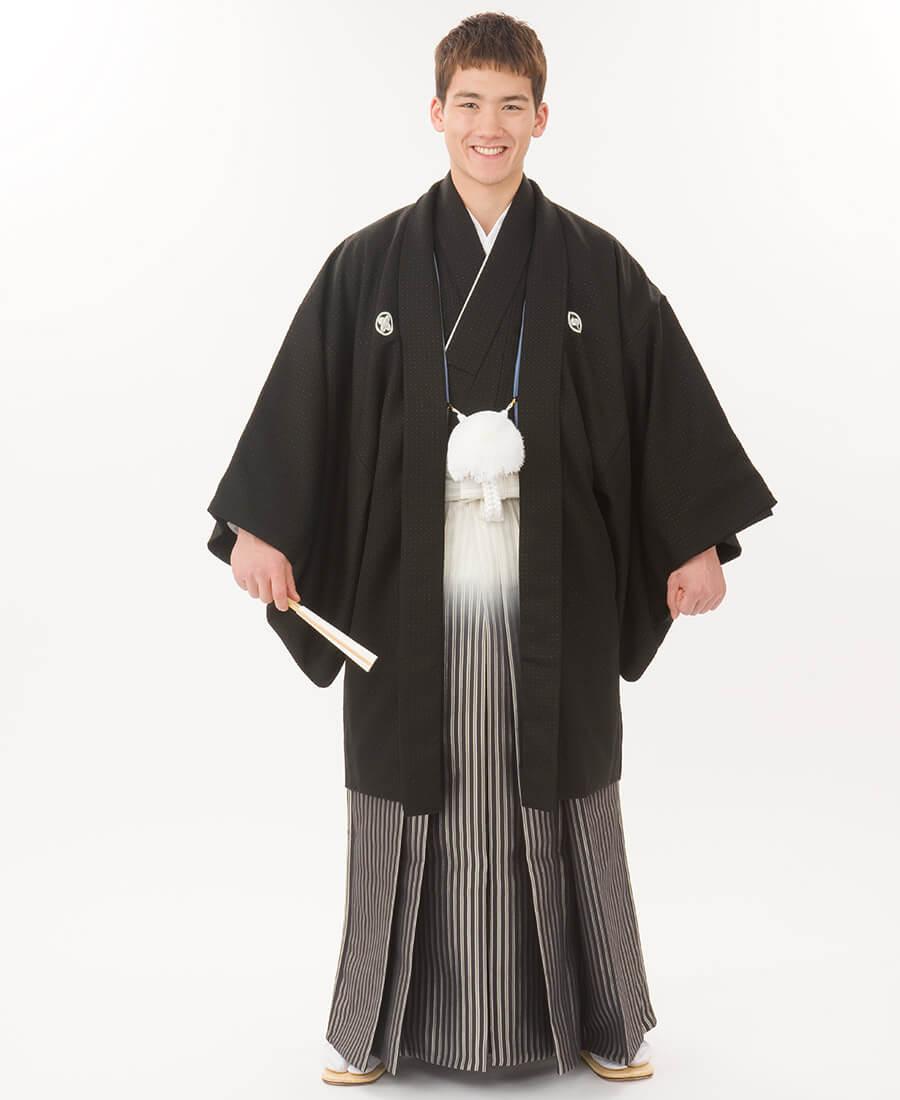 黒菱ぼかし袴
