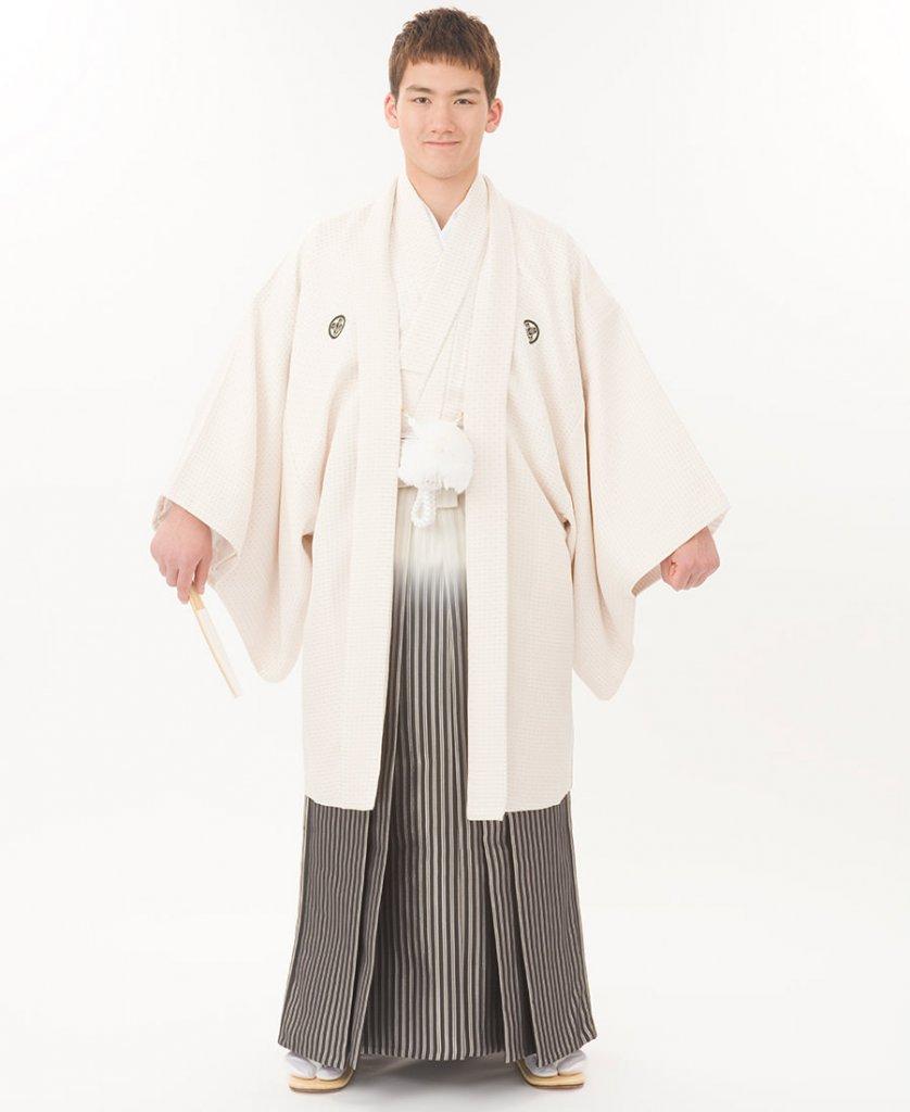 新郎 紋付き袴-白菱ぼかし袴-Img0047