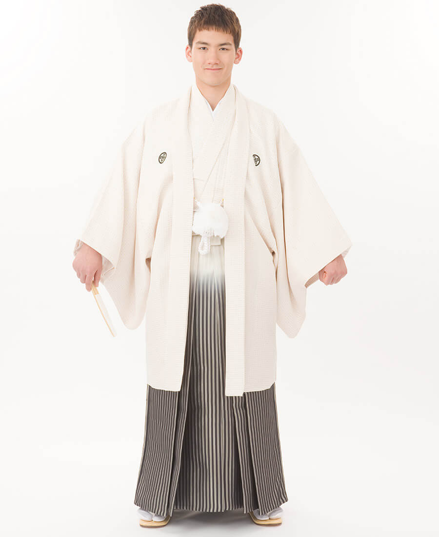 白菱ぼかし袴
