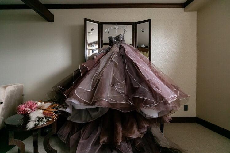 カラードレス KIYOKO HATA キヨコハタ レディア(KH-0486ブラウン)